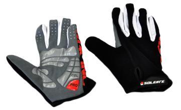 Велоперчатки SOLEHRE SB-05-6569, полные пальцы, черные