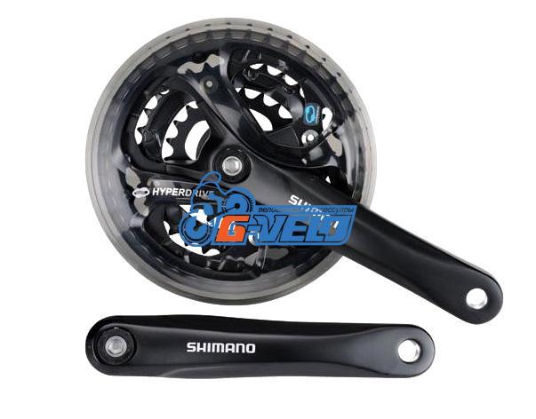 Система Shimano FC-M361 42-32-22T 170мм, черн., квадрат