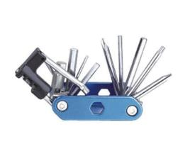 Ключи шестигранные в наборе 2/2.5/3/4/5/6/8 мм + 3 отвертки+выжимка цепи+монтажка, KENLI, KL-9835D