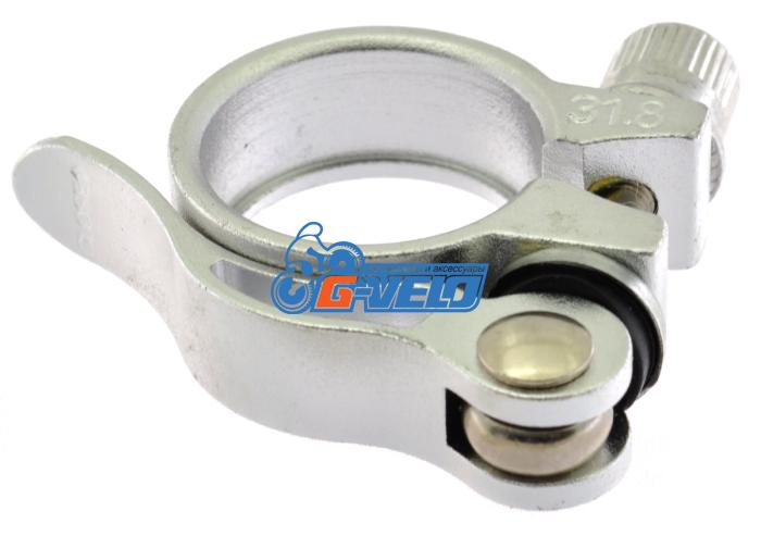 Эксцентрик подседельный с хомутом  ø 31.8 mm (Материал:алюм.;Цвет:silver) AS-01+SQ-128