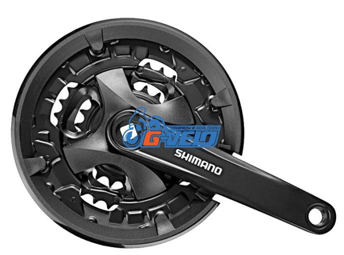 Система Shimano Altus FC-MT101 44х32х22T 170мм, с защитой квадрат