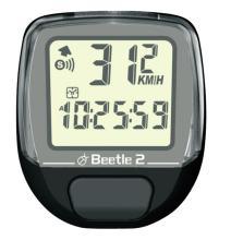 Велокомпьютер BEETLE-2 черный, 8 функций, проводной