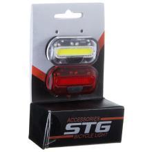 STG, Набор велосипедных фонарей, JY-6068, резин. хомут, батарейки