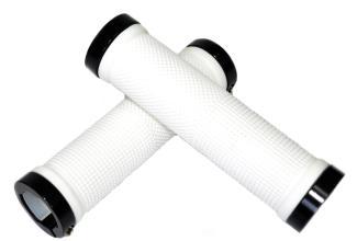 Vinca Sport, Грипсы с метал. зажимами, длина 129мм, белые, зажим черный H-G119 white/black