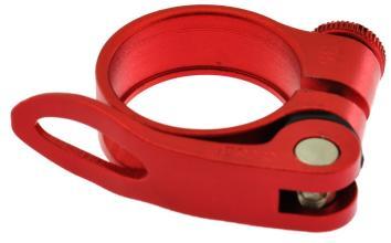 Эксцентрик подседельный с хомутом  ø 34.9 mm (Материал:алюм.;Цвет:red) AS-17+SQ-133