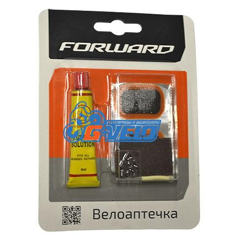 Велоаптечка Forward, заплатки 5шт, клей 8мл, блистер