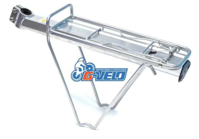 Багажник Joykie алюминиевый с клипсой на подседельный штырь серебристый JK 617/2