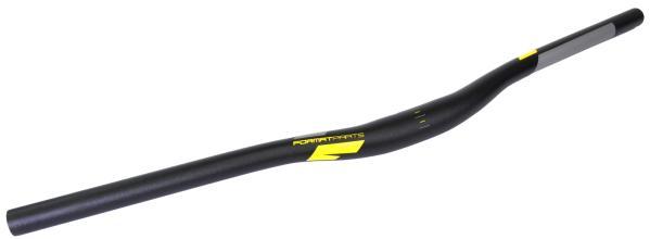 Руль FORMAT, HB-RB12, с подъемом, 22,2мм, 680мм, черный, серо-желтая графика