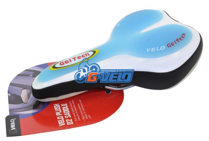 Седло Velo VL-3096 SPORT SERIES 554гр. 260*155мм цв. голубой