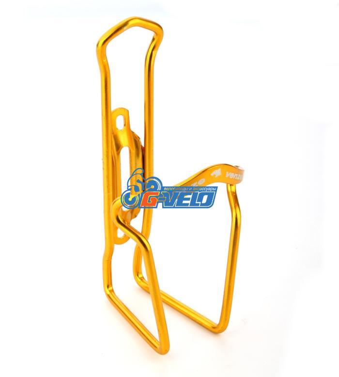 Флягодержатель VENZO алюминиевый золотой, VZ-F14A-006