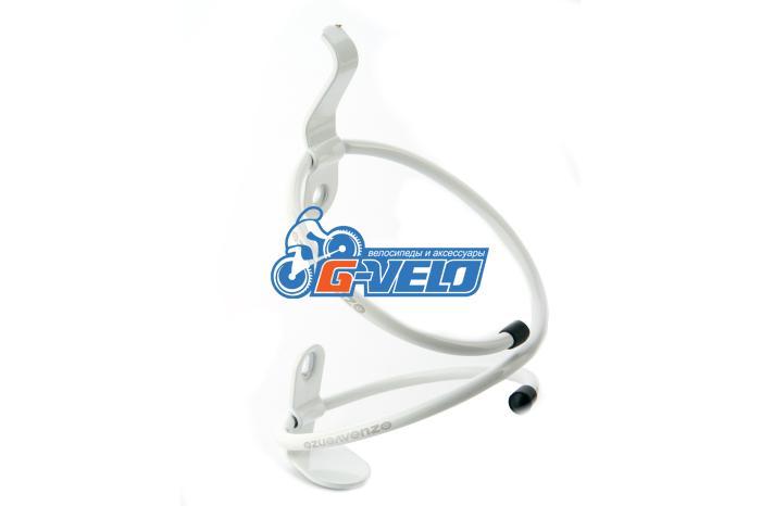Флягодержатель VENZO алюминиевый спираль белый, VZ-F14A-009B, AL-6061, 42g