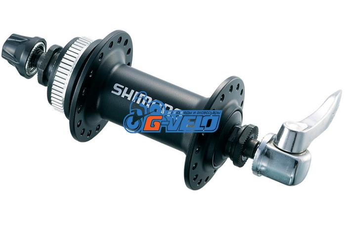 Втулка передняя Shimano HB-M435 C-Lock 32H черная, с эксцентриком