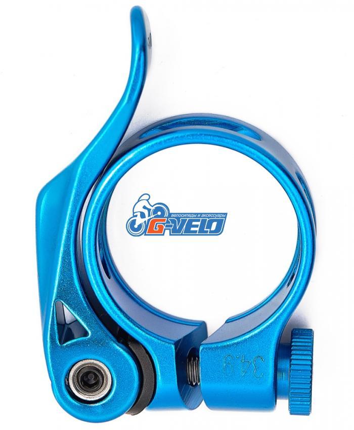 Подседельный хомут (диаметр- 31.80мм, синий), Vinca sport, VC 88-1 blue