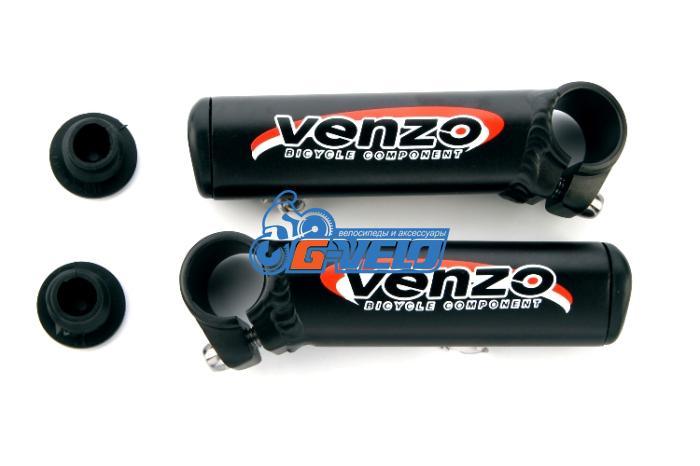 Рога алюминиевые VENZO, черные, VZ-E04-003, длина 100mm