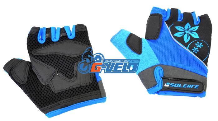 Велоперчатки SOLEHRE SB-01-5281B, голубые