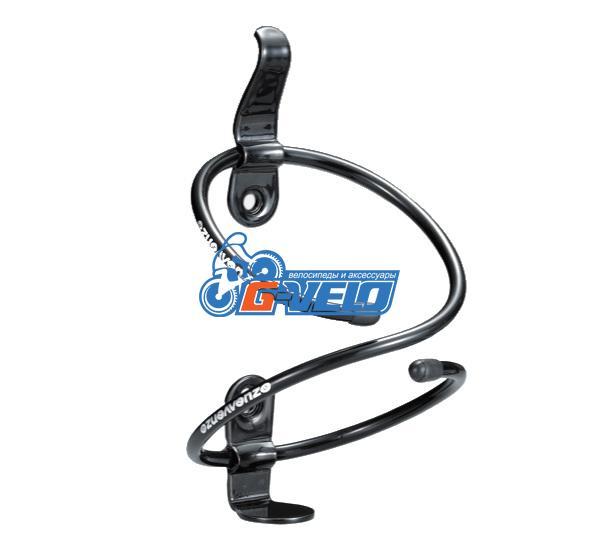 Флягодержатель VENZO алюминиевый спираль черный, VZ-F14A-009B, AL-6061, 42g