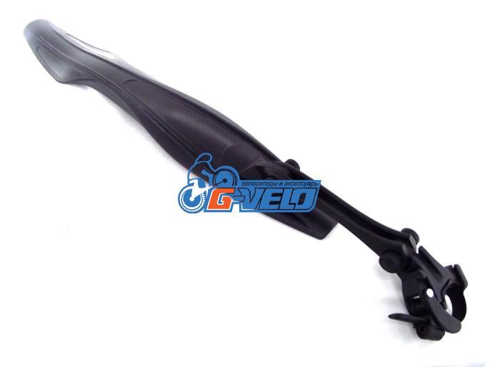 """Комплект крыльев SunnyWheel FI-133F/R, 24-26"""", заднее на хомуте, цвет чёрный"""