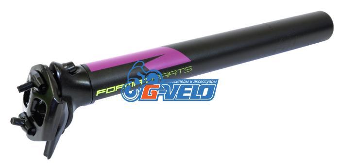 Подседельный штырь FORMAT KALLOY SP-619, черный, 31,6*300мм, фиолетово-бело-зеленая графика