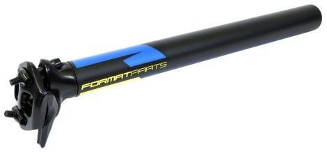 Подседельный штырь FORMAT KALLOY SP-619, черный, 31,6*350мм, желто-синяя граф
