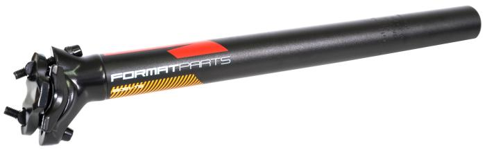 Подседельный штырь FORMAT KALLOY SP-DC1, черный, 30,4*350мм, красно-голуб-оранж графика NEW