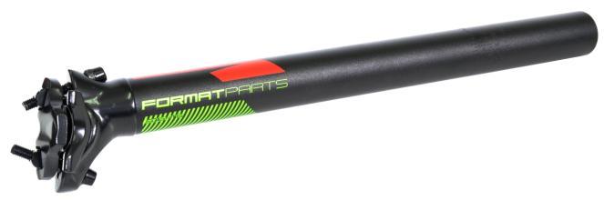 Подседельный штырь FORMAT KALLOY SP-DC1, черный, 30,4*350мм, красно-зеленая графика NEW