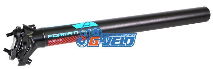 Подседельный штырь FORMAT KALLOY SP-DC1, черный, 30,4*350мм, голубая графика NEW
