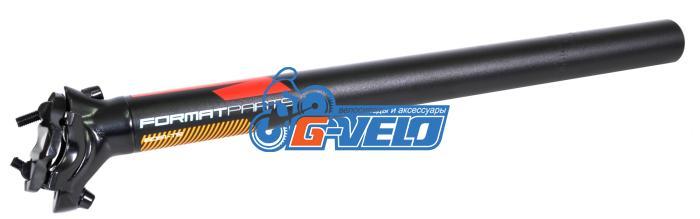 Подседельный штырь FORMAT KALLOY SP-DC1, черный, 30,4*400мм, красно-голуб-оранж графика NEW