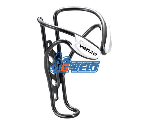 Флягодержатель VENZO алюминиевый, VZ-F14A-003, черный