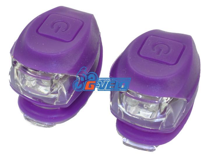Vinca Sport, Комплект силиконовых фонарей, фиолет, VL 267-2B violet