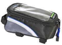 Vinca Sport, Сумка на раму, отделение для телефона, 180х85х95мм, синий кант, FB 07S black/blue