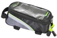 Vinca Sport, Сумка на раму, отделение для телефона, 180х85х95мм, зеленый кант, FB 07S black/green