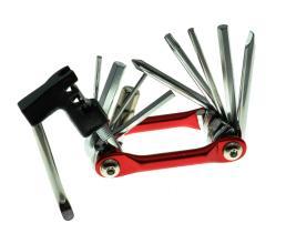 Ключи шестигранные в наборе 2/2.5/3/4/5/6/8 мм + 3 отвертки+выжимка цепи+монтажка, KENLI, KL-9835S