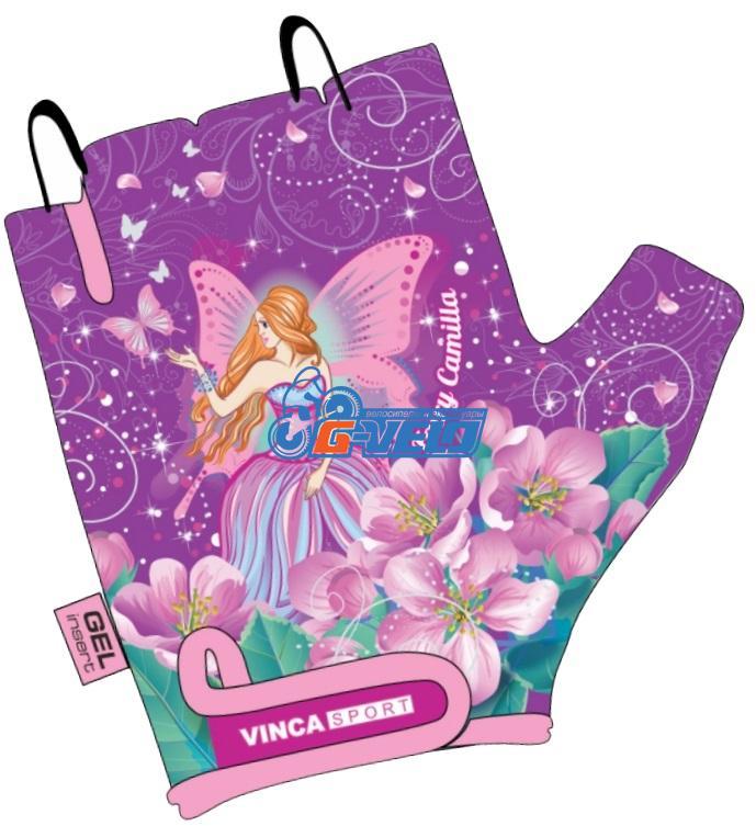 Велоперчатки детские Vinca Sport фиолетовые, VG 953 Fairy Camilla