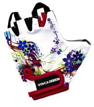 Велоперчатки детские Vinca Sport белые, VG 938 child flowers
