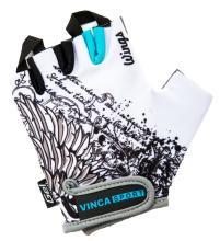 Велоперчатки Vinca Sport белые, VG 947 Wings