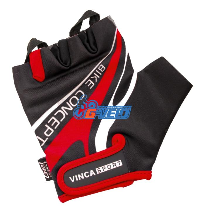 Велоперчатки Vinca Sport черные/красные, VG 949 black/red