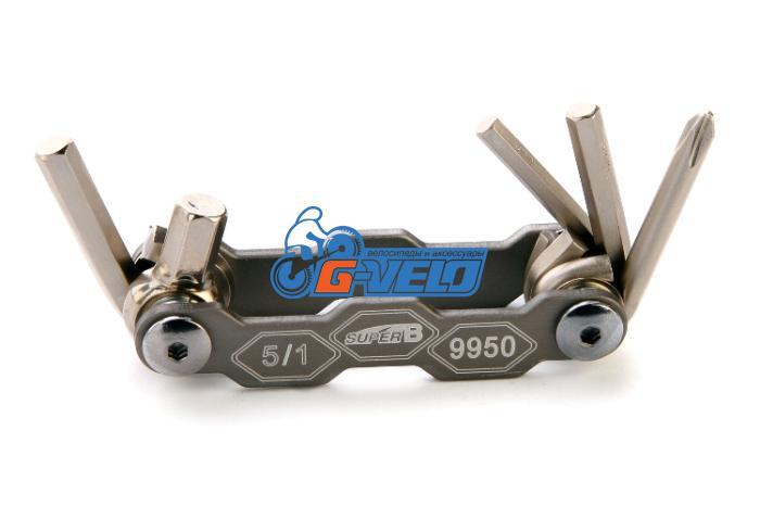 Складной набор инструмента 5 в 1, SuperB 9950