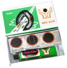 Велоаптечка, заплатки 36 шт. (25*35 мм), клей, RED SUN, 3601