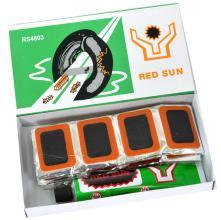 Велоаптечка, заплатки 48 шт. (ф 30 мм), клей, RED SUN, 4803