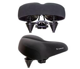 Седло TRIX AZ-001 для круизера 270x255 мм, с замком, с двойными пружинами, черное