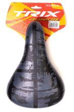 Седло TRIX AZ-5111-04 детское 230х160 мм, с замком, черно-серое