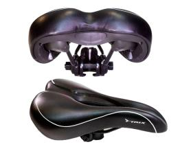 Седло TRIX AZ-5536-01, спорт 265х165 мм, с замком, с вентиляцией, черное