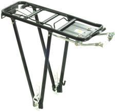 """Багажник TRIX регулируемый 24-28"""" алюминиевый, с клипсой, черный, BLF-H6"""