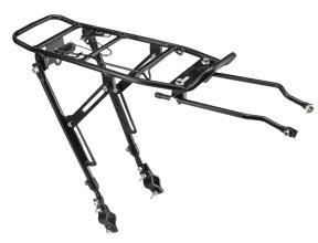 """Багажник TRIX регулируемый 24-28"""" алюминиевый, с клипсой, черный, BLF-H2"""