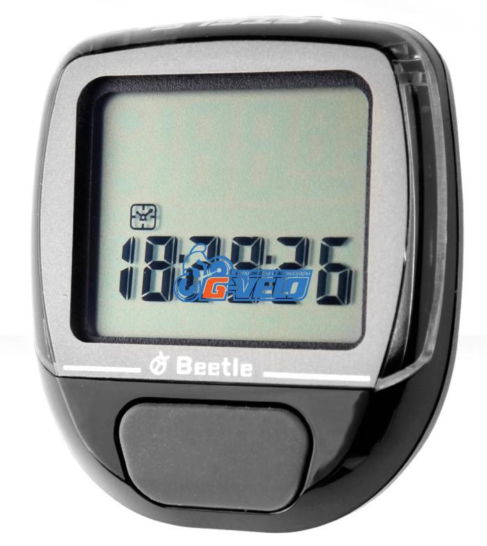Велокомпьютер BEETLE-3 черный, 10 функций, проводной
