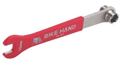 Ключ педальный, торцевой 14/15 + рожковый 15 мм BIKE HAND, YC-161