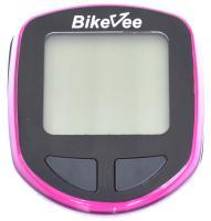 Велокомпьютер BikeVee проводной BKV-1001, 13 функций, фиолетовый