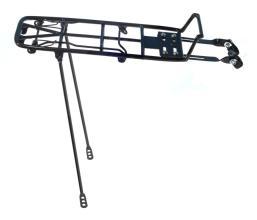 """Багажник YUENI 26"""" алюминиевый с клипсой, стойки сталь, черный"""