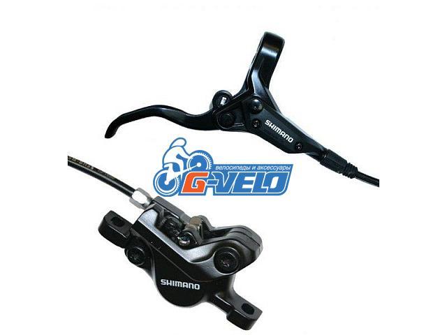 Тормоза гидравлические Shimano BR-M395 1400мм, черные задние