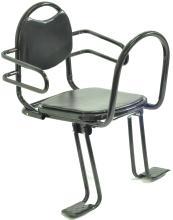 Кресло детское на багажник, черное, складное